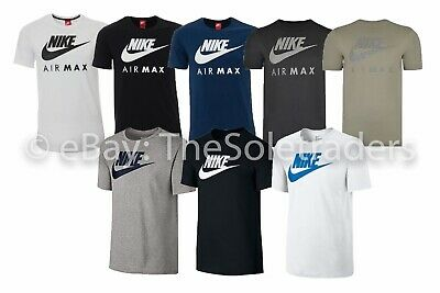 Men's Nike Air Max Crew Neck Short Sleeve T Shirt Cotton Sports Fitness Casual