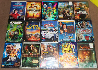 HUGE LOT 15 AUTH DISNEY DVDs MOVIES BRAND NEW FACTORY SEALED LIVE ACTION