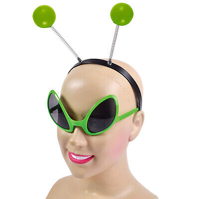 New Alien Glasses & Headband Set Space Out Of This World Fancy Dress Accessories