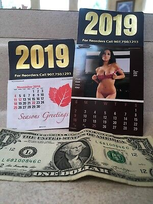 Stick Up Calendar 2019 Early Pricing Free Postage~lot of two~no sales tax