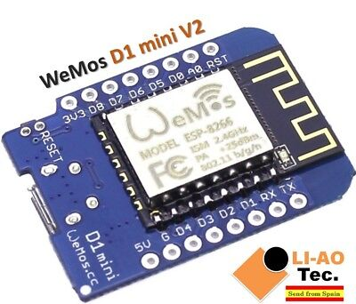 D1 mini V2 - Mini NodeMcu 4M bytes Lua WiFi Development Board ESP8266 by WeMos