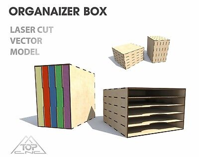 Organizer for storing papers FILE DXF CDR EPS AI  for Laser Cut or CNC ROUTER