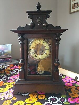 vintage mechanical Wooden clock Old Chiming In Need To Service