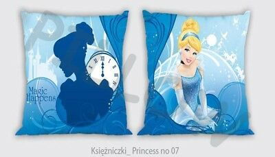 NEW DISNEY PRINCESS Cinderella cushion cover 40x40cm 100% COTTON pillow case