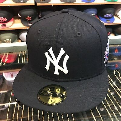 NEW ERA NEW York Yankees Fitted Hat Cap 100th Anniversary Side Patch ... 80437194ba46