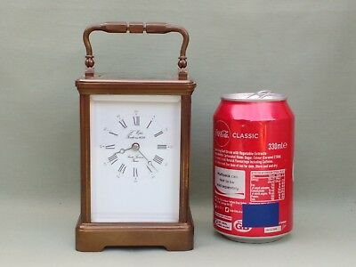 Large Size Vintage Brass L'epee Carriage Clock & Key. Working Well