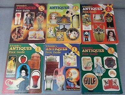 6 Schroeders Antiques Collectibles Price Guide and Identification
