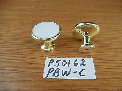 "White Center Liberty Pack of 50 P50162-PBW-C Polished Brass 1 1//4/"" Cabinet Knob"