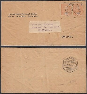 Mozambique 1909 - Used cover and used stamps to Sweden........(5G-23670) MV-902