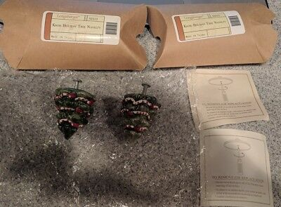 Longaberger CHRISTMAS TREE Holiday Replacement Knob BRAND NEW - 2 AVAILABLE