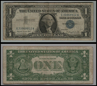 1957A $1 Great Silver Certificate Blue Seal V221