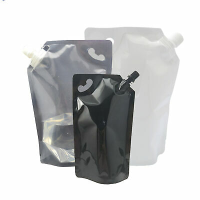 New Reusable Drink Wine Beverage Pouch Packaging Bags (Comes With 1 Funnel)
