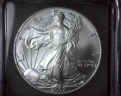 2007 American Silver Eagle ICG MS 70 First Day of Issue #11,076