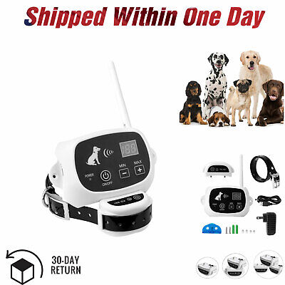 Wireless Electric Dog Pet Fence Containment Training System Transmitter Collar