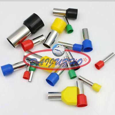 1000× Green 14AWG E2508 Cable Pre-Insulated Ferrules Terminal Wiring Connectors