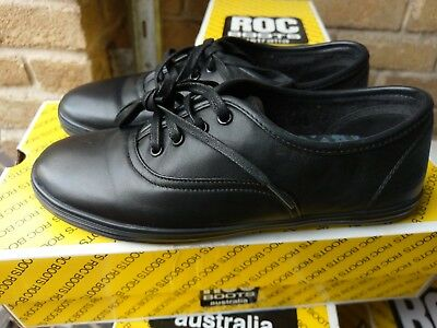 Roc Verve Black Shoe;leather; Junior School Shoes