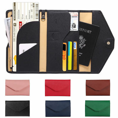 Genuine Leather US Passport Cover ID Holder Wallet Travel Case Handmade New