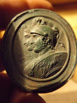 Mars & Bellona / Nerio - Greek / Roman gods cameo art. Also known as Ares & Enyo