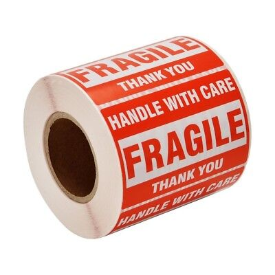 2x3 Fragile Stickers Handle with Care Thank You Mailing Labels 500/Roll Quantity