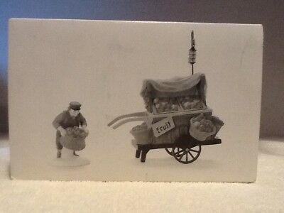 Dept 56 Dickens Village - Chelsea Market Fruit Monger & Cart - #58130 - Mint