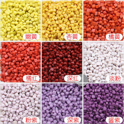 310pcs Vitreous Glass Mosaic Tiles Wall Crafts 50g Mixes Optic Drops Tools New