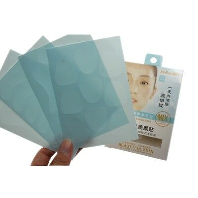 Facial Anti Wrinkle Remover Strips Tape Eye Forehead Brow Laugh Lines 12 Patches
