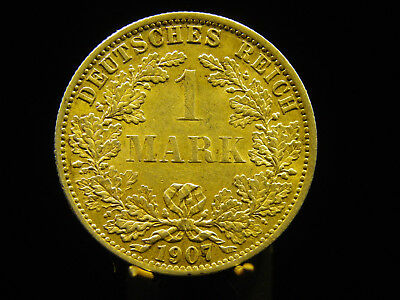 - M.F.B - Deutsches Kaiser Reich Wilhelm II1 Mark 1907 A Berlin in ss+/++ 71