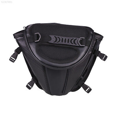 0B38 Leather Waterproof Motorcycle Tail Tank Bag Saddle Pouch Storage Bag Gadget