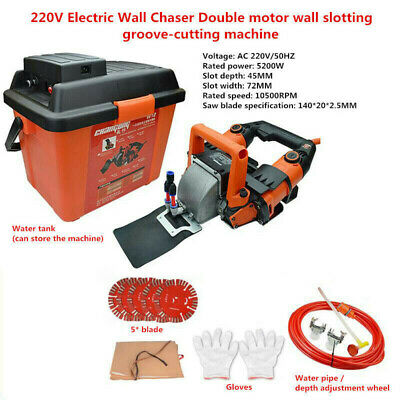220V Electric Wall Chaser Double motor wall slotting groove-cutting machine Y