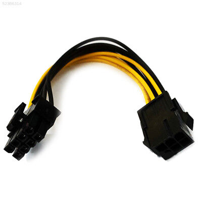 8E3B PCI PCI-E 6Pin To 8Pin Graphics Card Power Adapter Cable Converter Parts