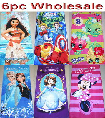 8pc Wholesale Kids Children Moana Avenger Frozen Paw Patrol Bath Beach Towel Mix