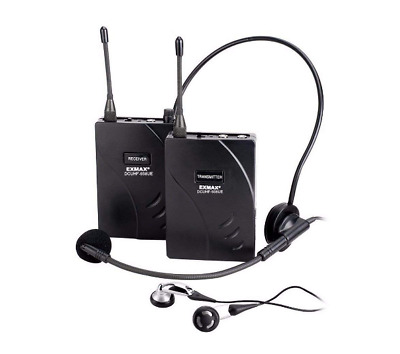 EXMAX UHF-938UE Dual Channel Wireless Tour Guide Translation System for Meeting