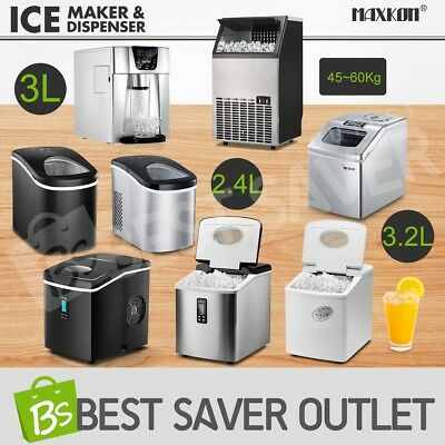 Commercial Ice Maker/Water Dispenser Portable Fast Cube Machine Home Business