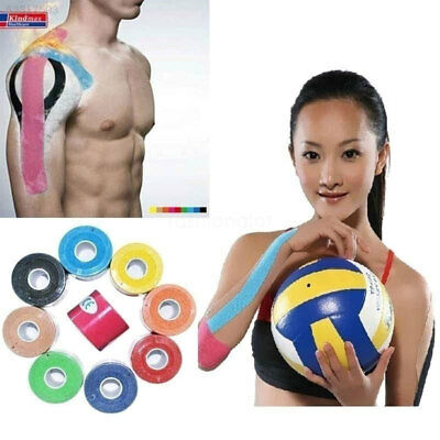 4B0A 5CM x 5M Elastic Colorful Kinesiology Sports Waterproof Muscle Tape Health