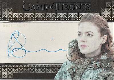 Game of Thrones Valyrian Steel, Rose Leslie 'Ygritte' Auto Card