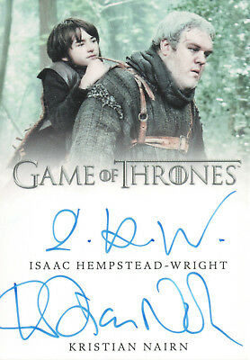 Game of Thrones Valyrian Steel, Hempstead-Wright / Nairn Dual Autograph Card