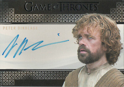 Game of Thrones Valyrian Steel, Peter Dinklage 'Tyrion Lannister' Auto Card