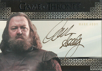 Game of Thrones Valyrian Steel, Mark Addy 'Robert Baratheon' Autograph Card
