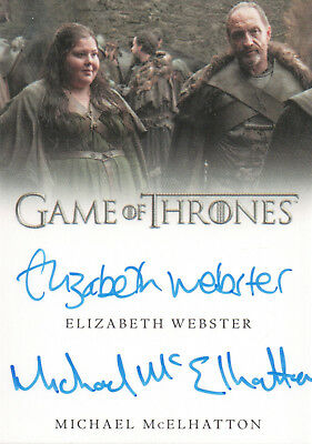 Game of Thrones Valyrian Steel, Webster / McElhatton Dual Autograph Card