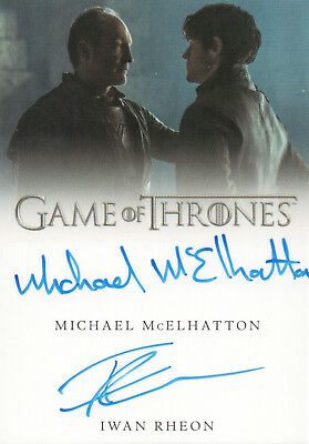 Game of Thrones Valyrian Steel, McElhatton / Rheon Dual Autograph Card
