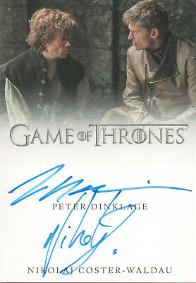 Game of Thrones Valyrian Steel, Peter Dinklage / Coster-Waldau Dual Auto Card