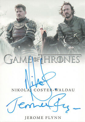 Game of Thrones Valyrian Steel, Coster-Waldau / Jerome Flynn Dual Auto Card