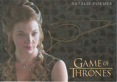 Game of Thrones Valyrian Steel, Natalie Dormer 'Margaery Tyrell' Gold Auto Card