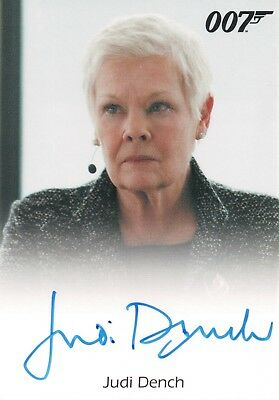 James Bond Archives 2017, Judi Dench 'M' Autograph Card