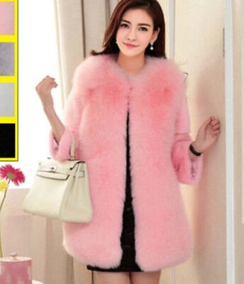 New Women's Winter Faux Fur Warm Jacket Outwear Lady Pink Coats Free Size Hot