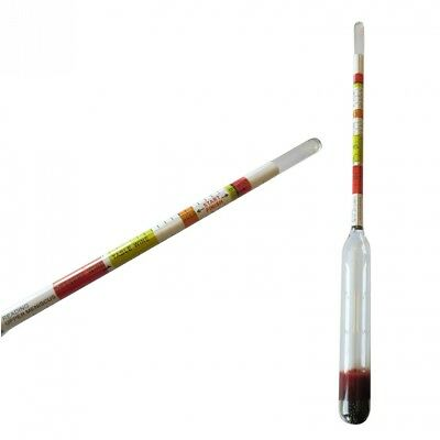 Hydrometer Triple Scale For Wine Mead & Beer Alcohol Testing For Homebrewing Bee