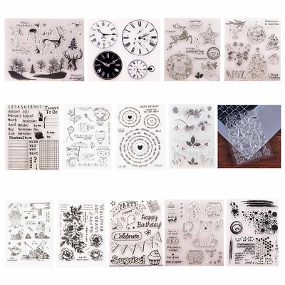 Scrapbooking Album Diary Silicone Finished Chapter DIY Stamp Transparent Crafts
