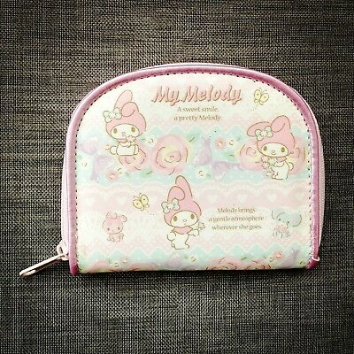 Super Cute My Melody PU Leather Purse Clutch Wallet Small Coin Bag Pink