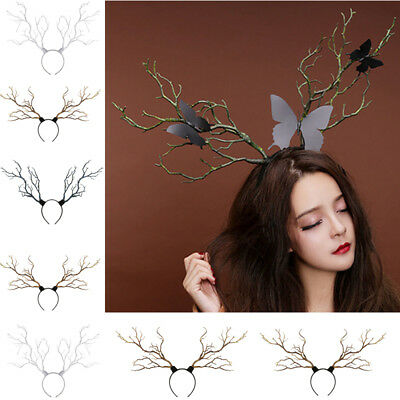Vintage Tree Branches Headband Props Horns Hair Accessory Cosplay Headpieces New