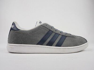 1f2d5e89ae3c MENS ADIDAS NEO VL Court Suede F76628 Grey Navy Casual Lace Up ...